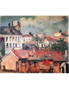 Tytuł: Dachy, Autor: Paul Cezanne