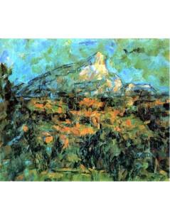 Tytuł: Góra Sainte-Yictoire widziana z Lauves, Autor: Paul Cezanne