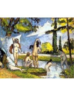 Tytuł: Kąpiące się, Autor: Paul Cezanne