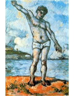 Tytuł: Kąpiący się z uniesioną ręką, Autor: Paul Cezanne