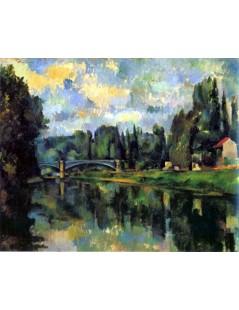 Tytuł: Most na Marnie w Creteil, Autor: Paul Cezanne