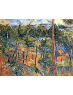 Tytuł: Estaque widziane poprzez sosny, Autor: Paul Cezanne