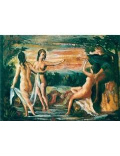 Tytuł: Sąd Parysa, Autor: Paul Cezanne