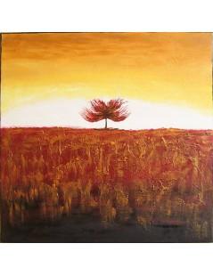 Tytuł: Abstrakcja złote drzewo, Autor: Emilia Czupryńska