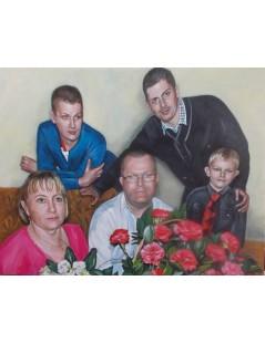 Tytuł: Portret rodzinny, Autor: Emilia Czupryńska