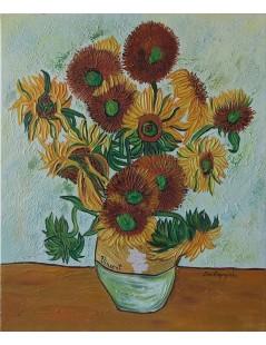 Tytuł: Słoneczniki, bukiet 15 kwiatów, Autor: Vincent van Gogh
