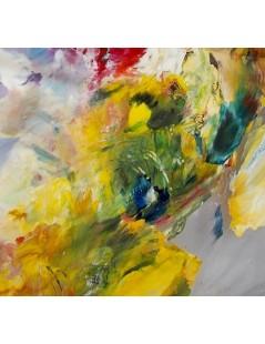 Tytuł: Abstrakcja Pawie oko, Autor: Emilia Czupryńska