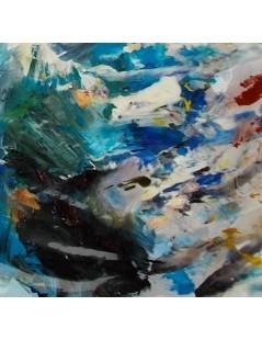 Tytuł: Abstrakcja granatowa, Autor: Emilia Czupryńska