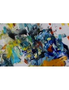 Tytuł: Abstrakcja chaotyczna, Autor: Emilia Czupryńska
