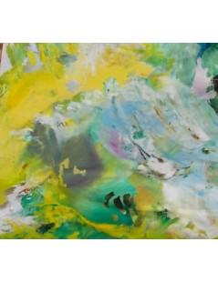 Abstrakcja pastelowa - zielonkawa