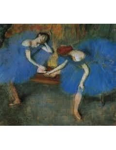Dwie niebieskie tancerki