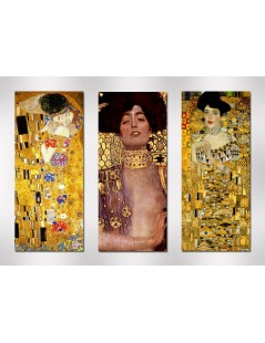 Tytuł: tryptyk, dyptyk Judyta, Pocałunek,, Autor: Gustav Klimt