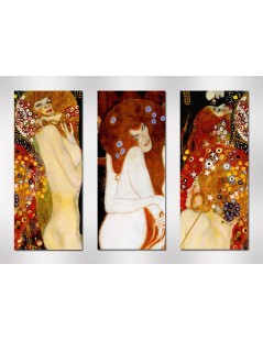 Tytuł: Dyptyk, tryptyk, Węże wodne, Macierzyństwo, Autor: Gustav Klimt