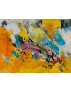 Tytuł: Abstrakcja Żółta, Autor: Emilia Czupryńska