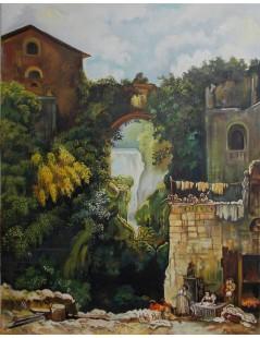 Tytuł: Kaskady w Tivoli, Autor: Emilia Czupryńska