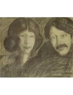 Portret Ireny Solskiej z mężczyzną