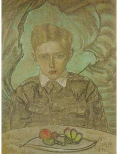 Portret Jerzego Komorowskiego w wieku 11 lat