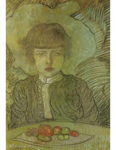Portret Leszka Komorowskiego w wieku 7 lat