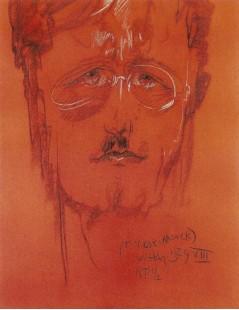 Tytuł: Portret Stefana Glassa, Autor: Stanisław Witkacy