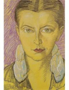 Tytuł: Portret Walerii Marii Głogowskiej, Autor: Stanisław Witkacy
