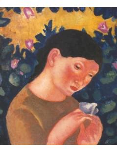 Tytuł: Dziewczyna z motylem, Autor: Eugeniusz Zak