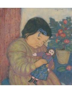 Tytuł: Dziewczynka z lalką, Autor: Eugeniusz Zak