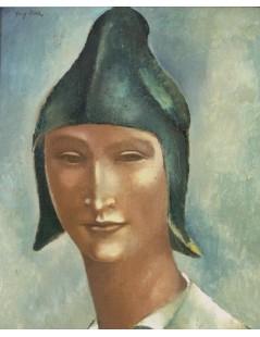 Głowa młodzieńca w spiczastej czapce