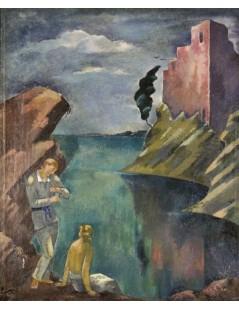Tytuł: Idylla (Para nad jeziorem), Autor: Eugeniusz Zak