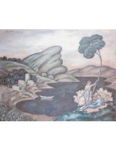 Tytuł: Idylla (Stary zamek), Autor: Eugeniusz Zak