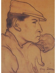 Tytuł: Mężczyzna w kaszkiecie, Autor: Eugeniusz Zak