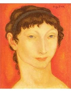 Tytuł: Młoda kobieta z niebieską wstążką.jpg, Autor: Eugeniusz Zak