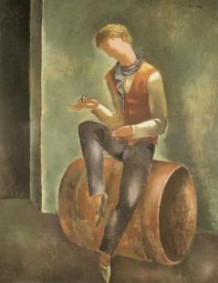 Tytuł: Młodzieniec z fajką, Autor: Eugeniusz Zak