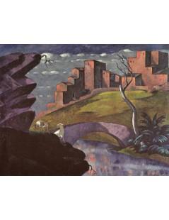Tytuł: Pejzaż idylliczny z owcami, Autor: Eugeniusz Zak