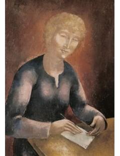 Tytuł: Pisząca list, Autor: Eugeniusz Zak