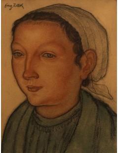 Portret Bretonki