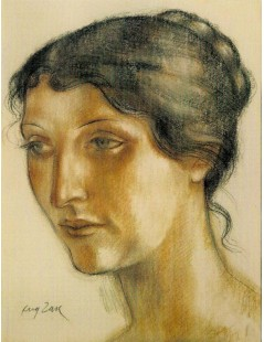 Tytuł: Portret kobiety (żony artysty), Autor: Eugeniusz Zak