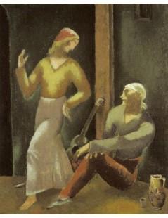 Tytuł: Tancerka i gitarzysta, Autor: Eugeniusz Zak