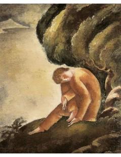 Chłopiec siedzący pod drzewem