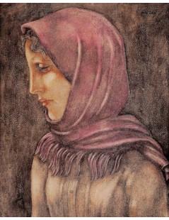 Dziewczyna w różowej chuście
