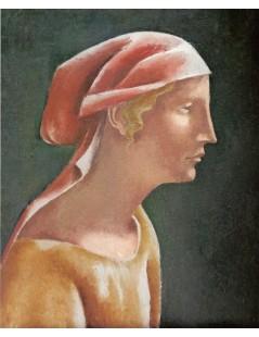 Głowa dziewczyny w profilu