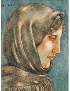 Głowa kobiety w chuście