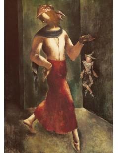 Kobieta z pajacem