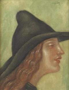 Młoda kobieta w profilu