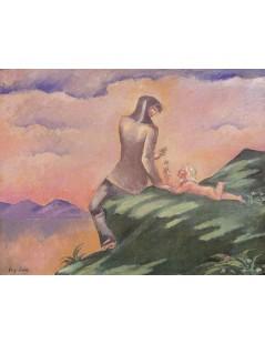 Tytuł: Scena idylliczna, Autor: Stanisław Wyspiański