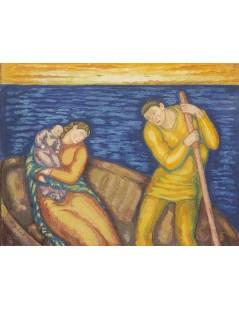 Tytuł: W łodzi, Autor: Stanisław Wyspiański