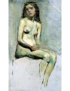 Akt siedzącej kobiety