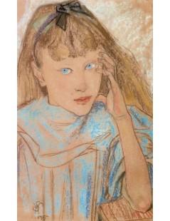 Dziewczynka z niebieskimi oczami