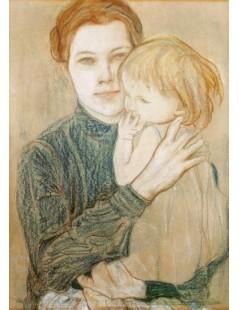 Portret Salomei Hankiewiczowej z córką