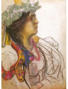 Portret Wandy Siemaszkowej jako Panny Młodej z Wesela
