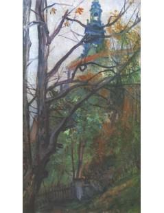 Tytuł: Widok na Wawel, Autor: Stanisław Wyspiański